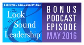 Bonus Podcast Episode, May 2016