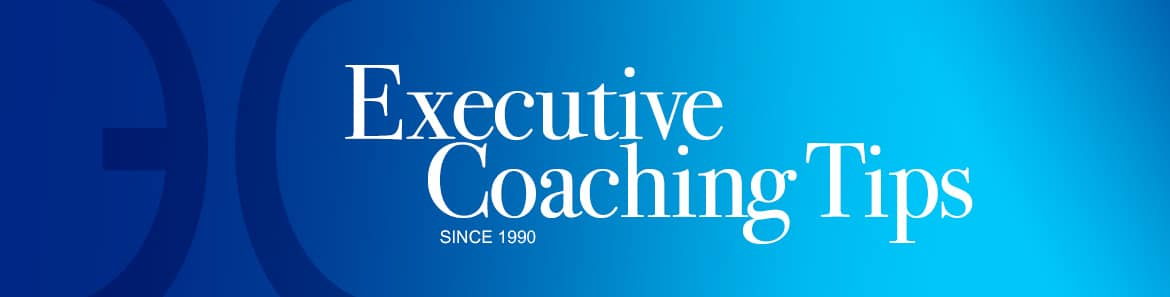 Executive coaching tips/podcast header image