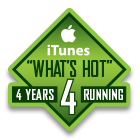 What's Hot iTunes 4 years running